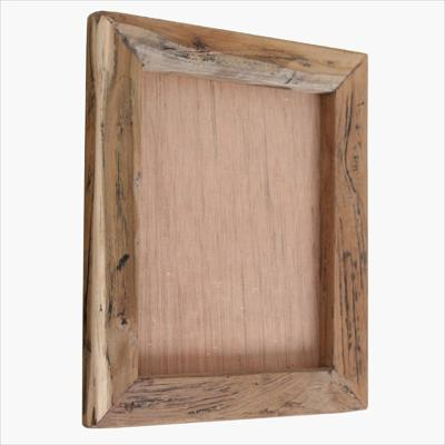 Rough teak photo frame L