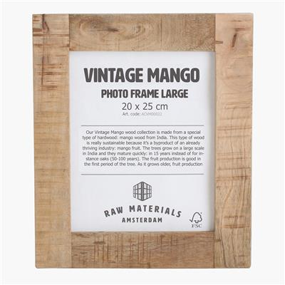 Vintage mango photo frame large