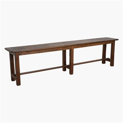 Teak school bench long