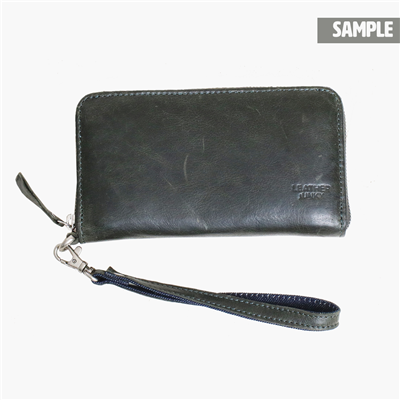 Zip wallet big green