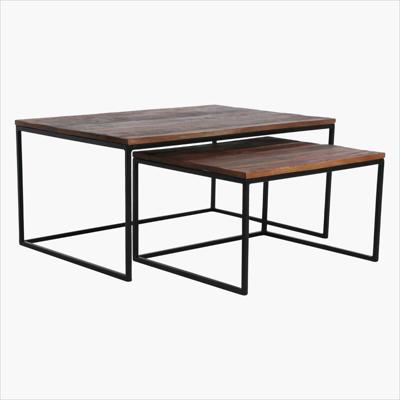 Factory rectangular coffee table set of 2