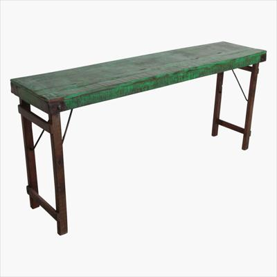 Console table green