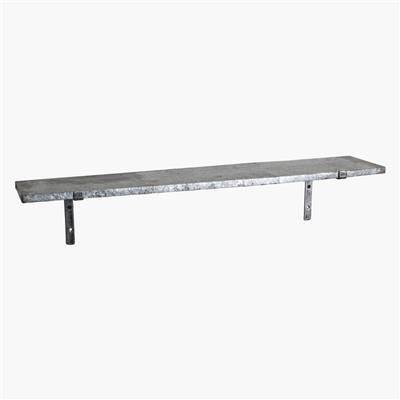 Zinc wall shelf