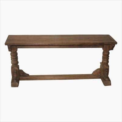 Church style colonial bench
