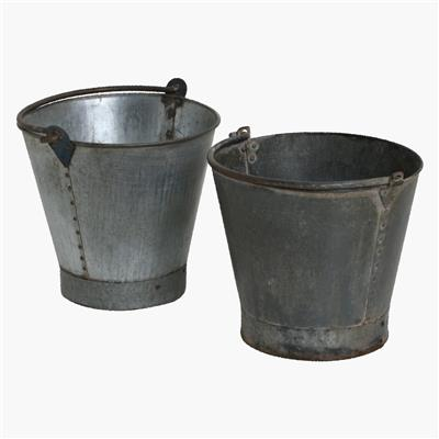 Iron bucket with handle L
