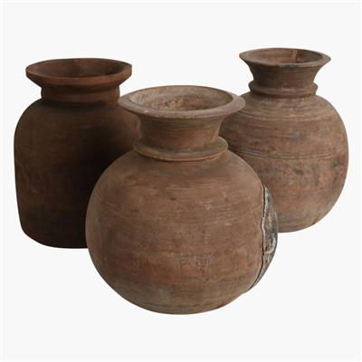 Neck pot Nepal natural - M