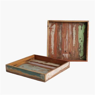 Scrapwood square tray large