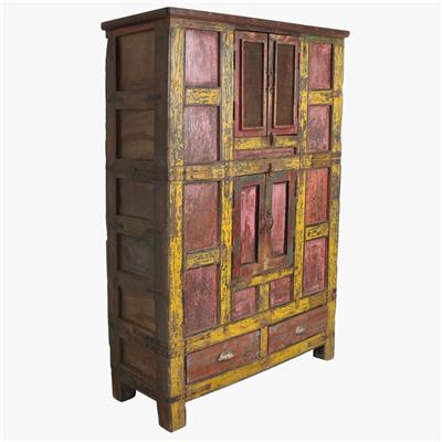 Multicolour 4 door jali door cabinet