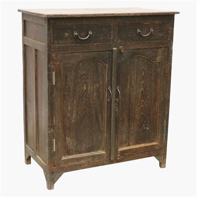 Dark calcutta teak cabinet + drawers