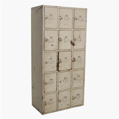 Taupe iron 15-locker