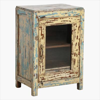 Yellow mix blue 1 door cabinet