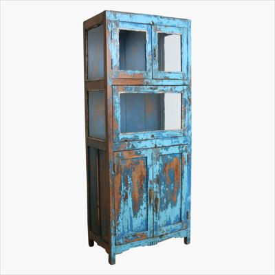 Teak 5-door multi color cabinet