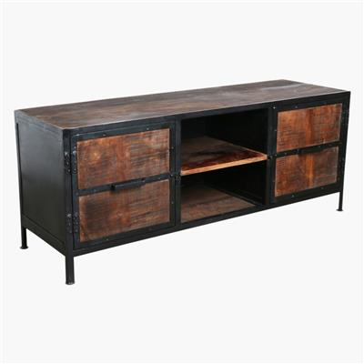 Factory tv console with iron
