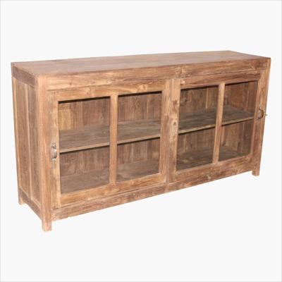 Teak sideboard with sliding doors