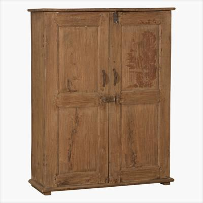 Natural teak cabinet with 2 shelves