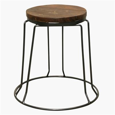 Factory iron stool stackable