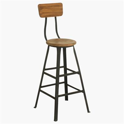 Hardware store bar stool backrest