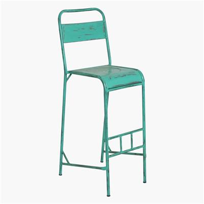 Java iron bar chair turquoise