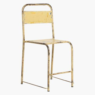 Java iron chair cream/yellow