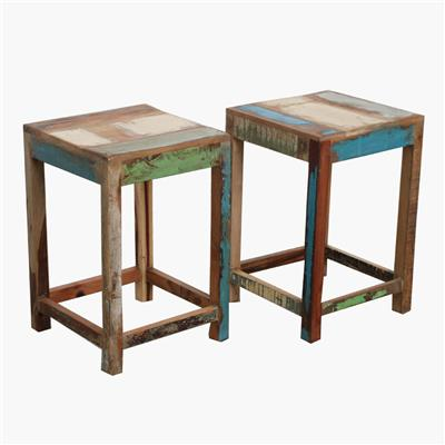 Scrapwood stool square