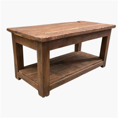Solid hardwood thick factory table