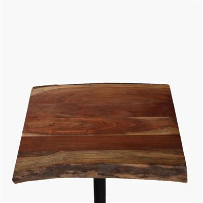 Acaciawood curved table top 70x70 cm