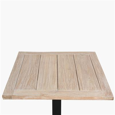 Teak outdoor table top whitewash 70x70