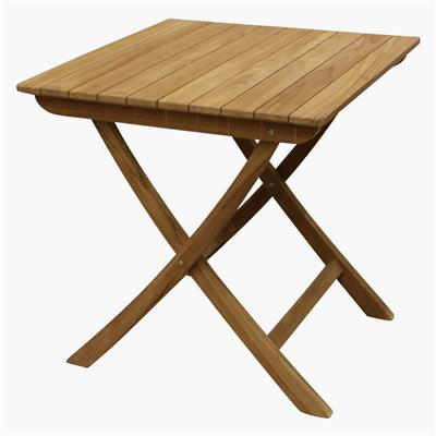Teak outdoor folding bistro table