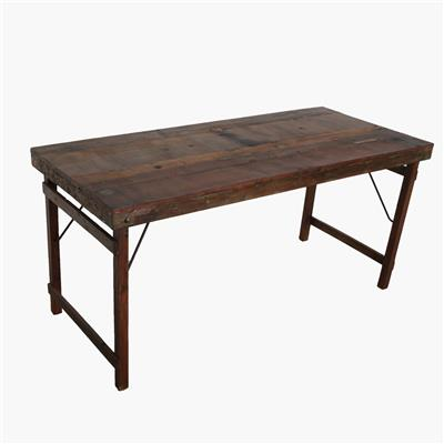 Dining table folding brown