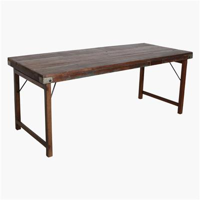 Dining table folding brown XL