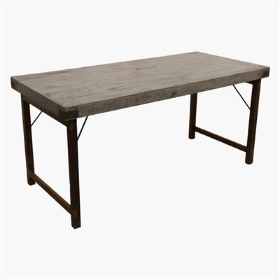 Dining table folding grey