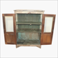 Cream 3 sides glass cabinet